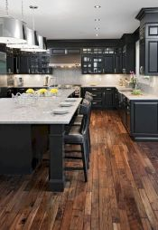 Amazing black kitchen design ideas 29