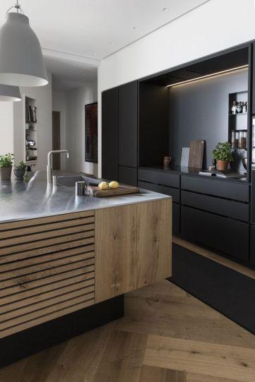 Amazing black kitchen design ideas 35