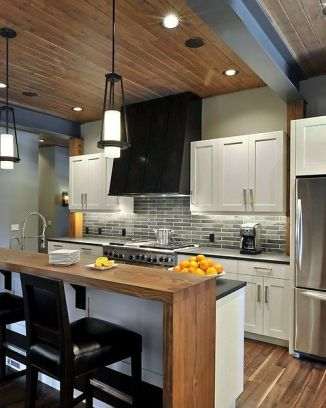 Amazing black kitchen design ideas 37