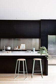 Amazing black kitchen design ideas 41