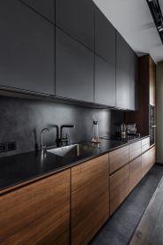 Amazing black kitchen design ideas 42