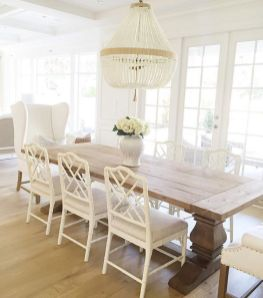 Amazing dinning room ideas with natural farmhouse style 14