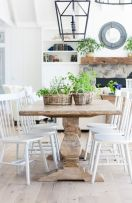Amazing dinning room ideas with natural farmhouse style 19