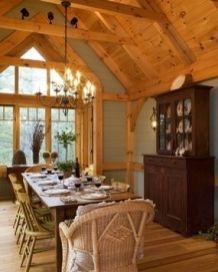 Amazing dinning room ideas with natural farmhouse style 21