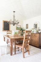 Amazing dinning room ideas with natural farmhouse style 25