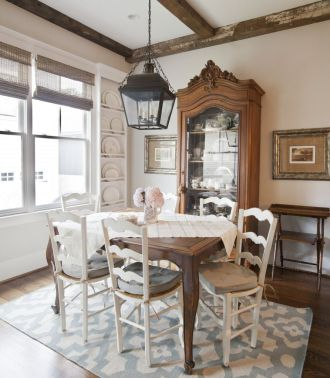 Amazing dinning room ideas with natural farmhouse style 42