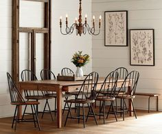 Amazing dinning room ideas with natural farmhouse style 46