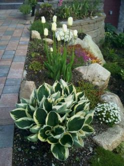 Great front yard rock garden ideas 15