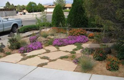 Great front yard rock garden ideas 34