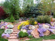 Great front yard rock garden ideas 50