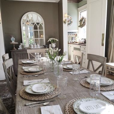 Modern spring dining room decoration ideas 01