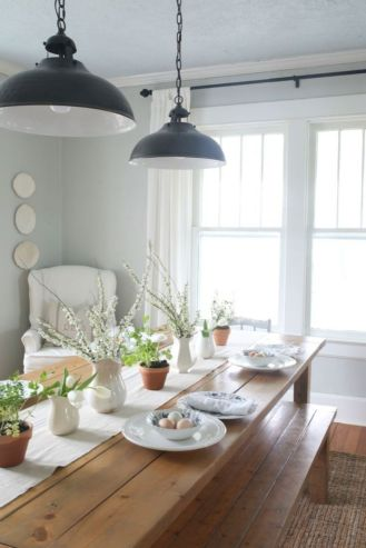 Modern spring dining room decoration ideas 46