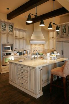 Popular modern french country kitchen design ideas 13