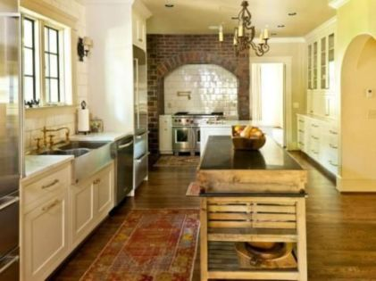 Popular modern french country kitchen design ideas 14