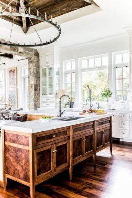 Popular modern french country kitchen design ideas 20
