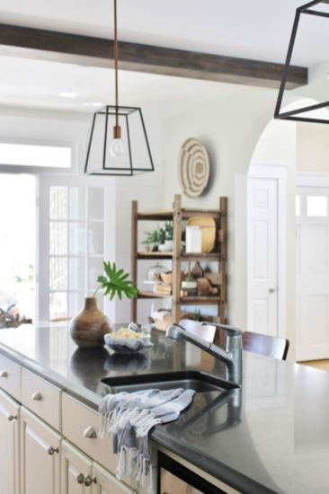 Popular modern french country kitchen design ideas 21