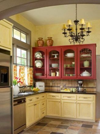 Popular modern french country kitchen design ideas 36