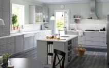 Popular modern french country kitchen design ideas 43