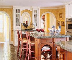 Popular modern french country kitchen design ideas 54
