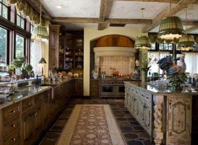 Popular modern french country kitchen design ideas 55