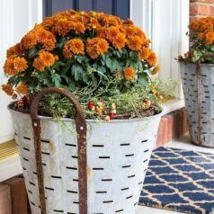 Pretty fall planters for easy outdoor fall decorations 42