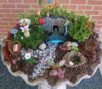 Stunning fairy garden decor ideas 12