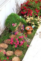 Stunning fairy garden decor ideas 28