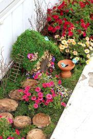 Stunning fairy garden decor ideas 28