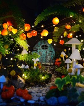 Stunning fairy garden decor ideas 30