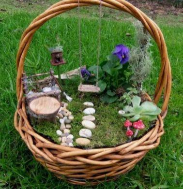Stunning fairy garden decor ideas 35