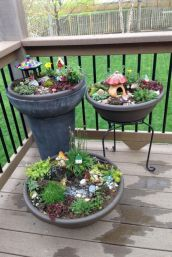 Stunning fairy garden decor ideas 42