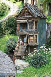 Stunning fairy garden decor ideas 49