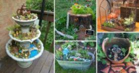Stunning fairy garden decor ideas 55