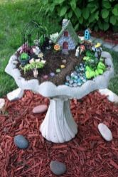 Stunning fairy garden decor ideas 56