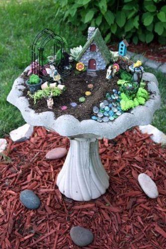Stunning fairy garden decor ideas 56