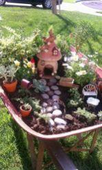 Stunning fairy garden decor ideas 57