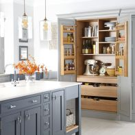 Stunning farmhouse kitchen cabinet ideas 24
