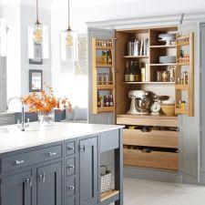 Stunning farmhouse kitchen cabinet ideas 24