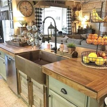 Stunning farmhouse kitchen cabinet ideas 27