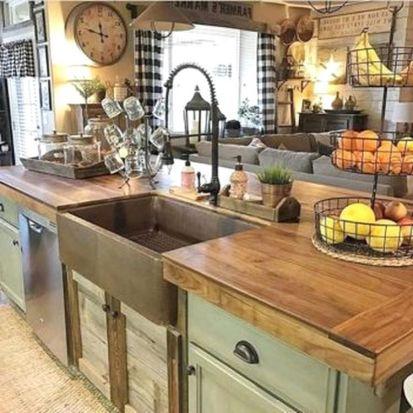 Stunning farmhouse kitchen cabinet ideas 27