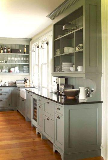 Stunning farmhouse kitchen cabinet ideas 33