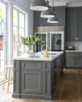 Stunning farmhouse kitchen cabinet ideas 34