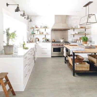 Stunning farmhouse kitchen cabinet ideas 39