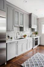 Stylish modern farmhouse kitchen makeover decor ideas 02