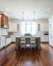 Stylish modern farmhouse kitchen makeover decor ideas 03