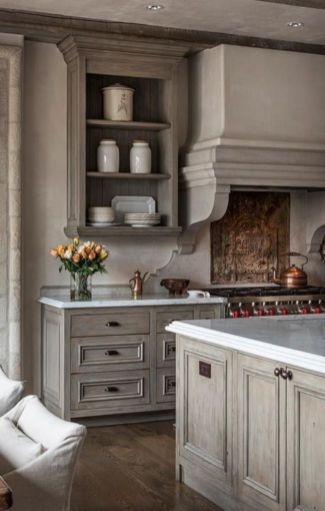 Stylish modern farmhouse kitchen makeover decor ideas 07