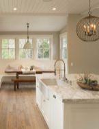 Stylish modern farmhouse kitchen makeover decor ideas 10