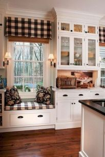 Stylish modern farmhouse kitchen makeover decor ideas 14