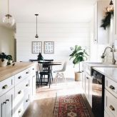 Stylish modern farmhouse kitchen makeover decor ideas 23
