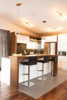 Stylish modern farmhouse kitchen makeover decor ideas 24